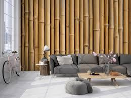 3d fototapete bambus wand aus stämmen