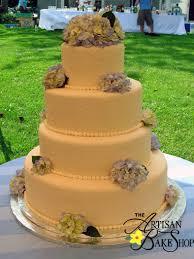 Ivory Blue Hydrangea Cake