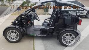 99 Eco Golf Cruise Electric Cart NEV LSV Vehicle Car California Street