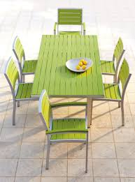 Modern Outdoor Decoration With Recycled Plastic Furniture And Stainless Steel Frame Patio
