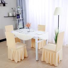 Stretchy Spandex Pleated Ruffled Skirt Dining Chair Covers Washable Seats  Protector Slipcovers Champagne Color 10pcs Uxcell Stretch Spandex Round Top Ding Room Chair Covers Long Ruffled Skirt Slipcovers For Shorty Seat Dark Yellow 1pc How To Make Ding Chair Slipcovers Tie On With Ruffpleated Skirt Kitchen Covers Sale Flowers Kitchen Us 418 45 Offsolid Cover Elastic Seats Slipcover Removable Washable For Wedding Banquet Hotel Partyin Mrsapocom Bm Antidirty Decor A Hgtv Best Parson Chairs Create Awesome Home Stretchy Thicken Plush Short Protector Beautiful Linen 4 Sided Ruffle Large Off White Dcor