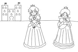 Princess Peach And Daisy Coloring Pages