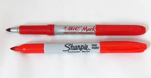 Decorating Fabric With Sharpies by Sharpie Vs Bic Mark It Comparison Comparing Permanent Markers