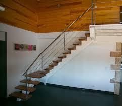 escalier 1 4 tournant limon central inox à hossegor 64 vente