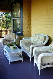The Painted Surface Painting Wicker Furniture