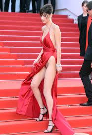 Bella Hadid Narrowly Avoids Wardrobe Malfunction Cannes Red