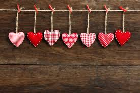 Valentine SDA Has A Heart Son Rustic Wooden Wall Stock Photo