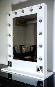 vanity mirror with light bulbs around it square white