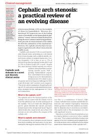 100 Arch D PF Cephalic Arch Stenosis A Practical Review Of An Evolving Disease