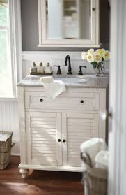 Admirable Bathroom Vanity Lowes With Elegant Gray Countertop Design And Gorgeous White Curtain