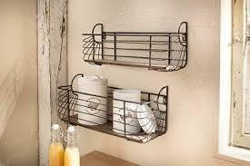 korb wandregal 2er set regal metall wanddeko küche bad