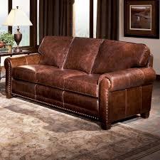 Smith Brothers Sofa 393 by Brown Nailhead Sofa Newberry Nailhead Trim Leather Sofa In Black