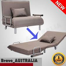 Portable Folding Bed Converts To Sofa Lounge Chair Taupe ...