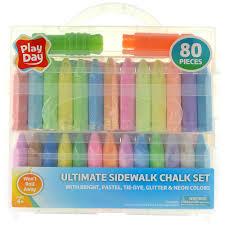 100 Chalks Truck Parts Play Day Ultimate Sidewalk Chalk Set 80 Pieces Walmartcom