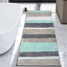 hebe langer badteppich läufer für badezimmer groß rutschfest mikrofaser maschinenwaschbar 69 8 x 139 7 cm