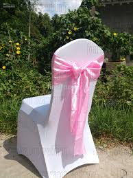 Wedding Chair Sash Buckles by Pink Satin Chair Sash Bow Ribbon Wedding Satin Chair Sash Bow