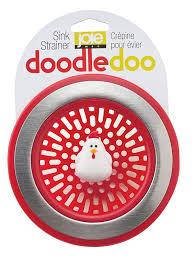 Install Sink Strainer Basket by Amazon Com Joie Doodle Doo Kitchen Sink Strainer Basket Rooster