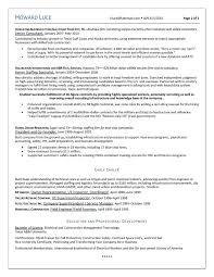 Oild Gas Resume Format Stunning Best For Industry Engineer Cv Sample Oil And