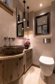 gäste wc in luxuriösem modernem bauernhaus landhausstil