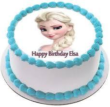 Frozen Elsa Face 2 Edible Birthday Cake Topper OR Cupcake Topper Decor