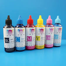 100ML 6Colors Universal Coated Pigment Refill Ink Kit For EPSON Inkjet Printer Direct Print Without Heating