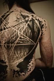 Gothic Wonderful Back Tattoos