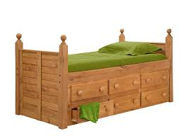 Twin Captains Bed With 6 Drawers by Pine Crafter American Made Quality Furniture Captain Beds