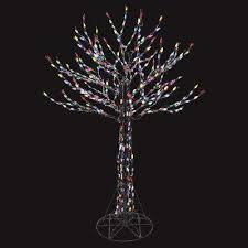 Charlie Brown Christmas Tree Home Depot by 6 Ft Led Deciduous Tree Sculpture With Multi Color Lights