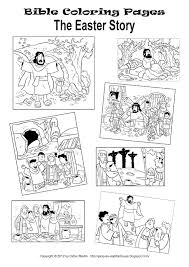 My Little House The Easter Story And Coloring Pages Inside Lent Worksheets