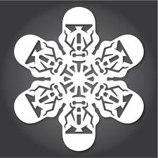 60 Free Paper Snowflake Templates—Star Wars Style  Christmas