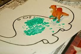 Dinosaur Stomp Painting Preschool Process Art