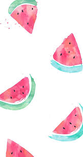 Free Iphone Wallpaper With Watercolored Watermelons