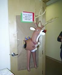 Funny Christmas Office Door Decorating Ideas by What A Funny Christmas Door Decoration Doors U0026 Bulletin Boards