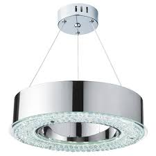 Halo LED Crystal Pendant 4076 48Cc