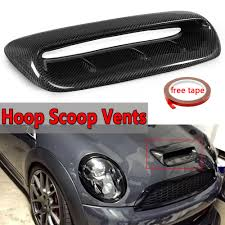 100 Hood Scoops For Trucks Real Carbon Fiber Scoop Vent Cover Larger BMW Mini Cooper S