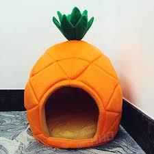 Creative Cute Pineapple Pet House Sleep Basket Cat Puppy Dog Bed