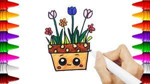 Coloriage Tulipes Gratuit