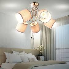 etc shop deckenleuchte led decken le schlafzimmer leuchte geschwungen stoff schirm strahler kaufen otto