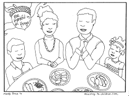 Download Coloring Pages Thanksgiving Christian Sheets Free Kids Printable Drawing