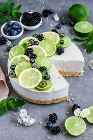 limetten cheesecake veganer käsekuchen ohne backen