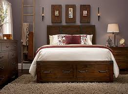 shelton 4 pc queen bedroom set w storage rustic pine raymour