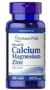 Chelated Calcium Magnesium Zinc 100 Caplets   Calcium ...