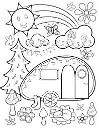 Free Happy Campers Coloring Page By Thaneeya