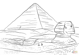 Click The Sphinx And Great Pyramid Of Giza Coloring Pages To View Printable Version Or Color It Online Compatible With IPad Android Tablets