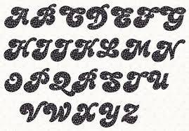 Alphabet Applique Candy 2 inch template