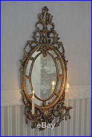 wall mirror shabby chic candle holder wall lights mirror silver
