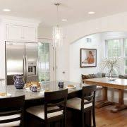 Breakfast Nook Decorating Ideas Kitchen Traditional With Wood Trim Flooring Seat Cushions