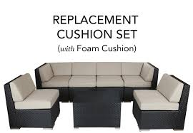 Replacement Sofa Pillow Inserts by Complete Replacement Cushion Covers With Foam