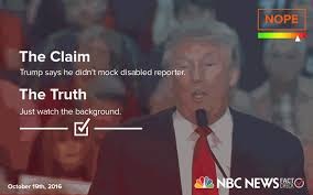 Trump Says He Didnt Mock Disabled Reporter Did