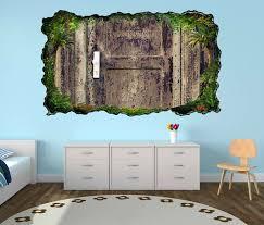 3d wandtattoo rost verrostet tür alt vintage eingang selbstklebend wandbild wandsticker wohnzimmer wand aufkleber 11o885 wandtattoos und